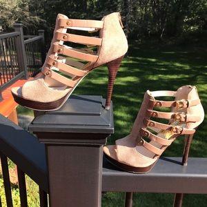 Michael Kors Leather and suede platform sandal